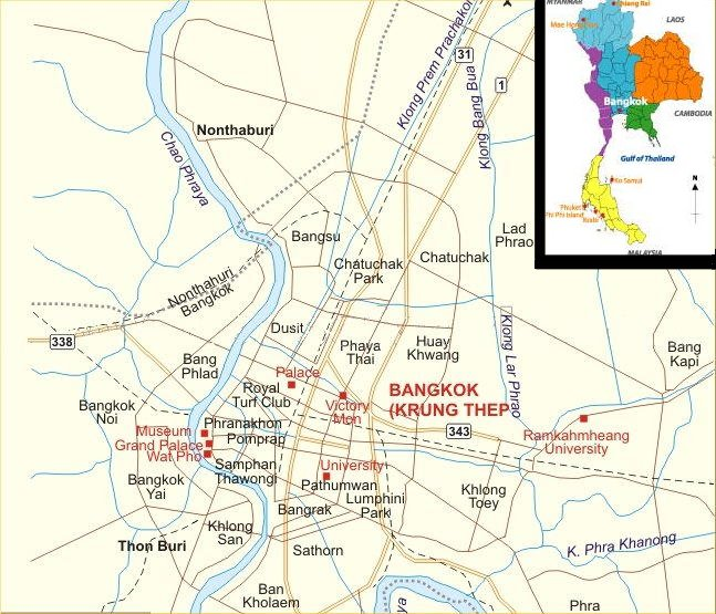 Bangkok city map jpg